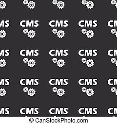 Straight black CMS settings pattern - White image of text...
