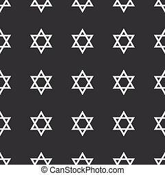Straight black Star David pattern - White Star of David...
