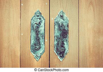 Door knob - vintage filter effect