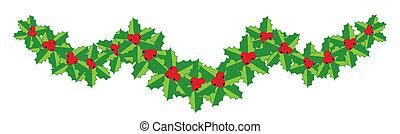 Natale, agrifoglio, ghirlanda