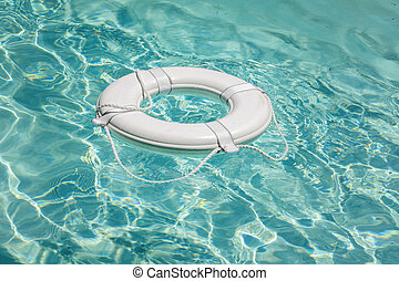 Life buoy in swimming pool life saver