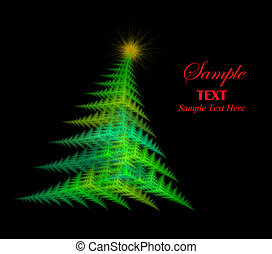 Abstract Christmas Tree with copy space