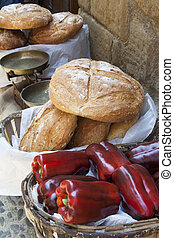 typical foods - two typical products of the mediterranean...