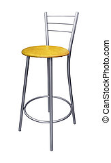 Steel bar stool - Modern steel bar stool isolated on white