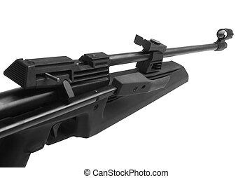 Air rifle isolated on the white background