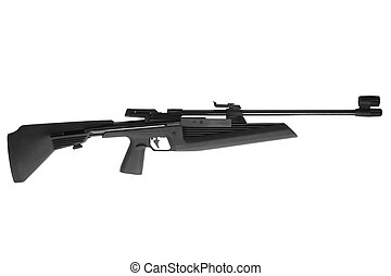 Air rifle isolated on white background