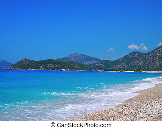 Oludeniz beach in Turkey - Oludeniz beach view in Turkey....