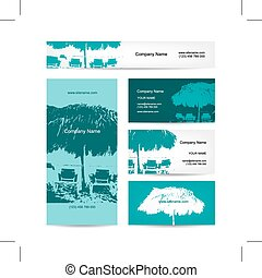 Business card design, tropical resort