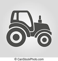 The tractor icon. Agrimotor symbol. Flat Vector illustration
