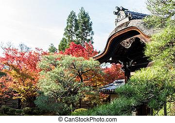 Japanese style garden in autumn (Koyo)