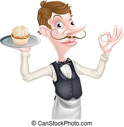 Cake Waiter Perfect Sign