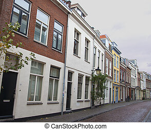 Typical Dutch houses in Utrecht, The Netherlands