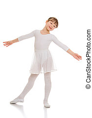 Pretty little ballerina - Adorable little ballerina in a...
