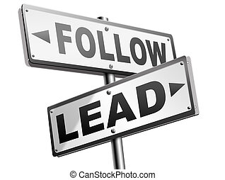 follow or lead following or catch up the natural...