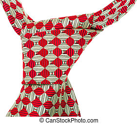 tie knot isolated on white background - the red tie knot...