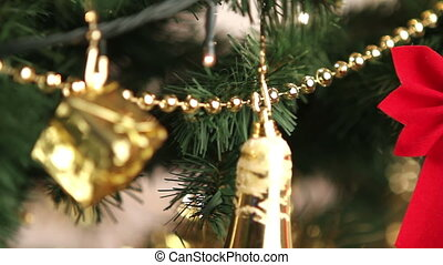 Christmas tree decoration close up.