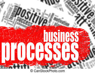 Word cloud business processes image with hi-res rendered...