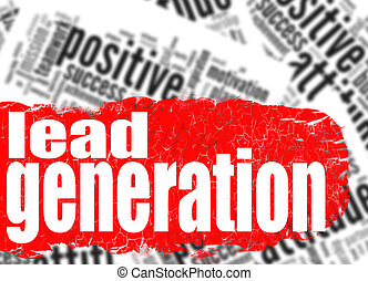 Word cloud lead generation image with hi-res rendered...