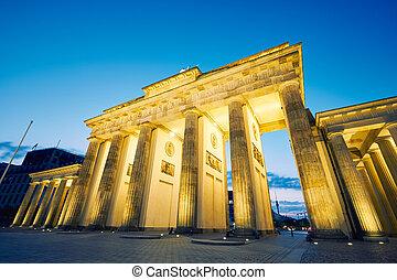 Brandenburg Gate - morning in Berlin, Germany