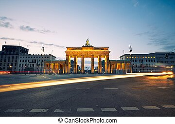 Brandenburg Gate - sunrise in Berlin, Germany