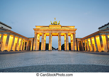 Brandenburg Gate - morning in Berlin, Germany