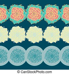 Borders with flowers. Vector illustration