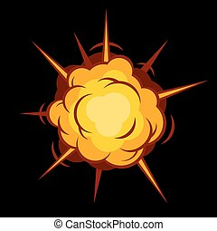 Comic Boom Explosion Vector - Color Comic Boom Black...