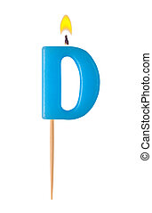 Letter D - Burning candles in the form of the letter D