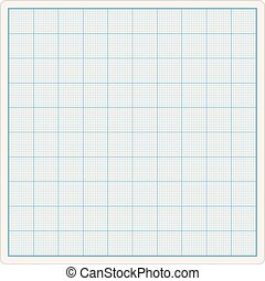 Graph Paper - Blank graph paper, vector eps10 illustration