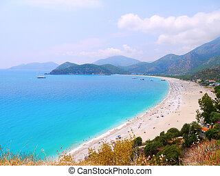 Oludeniz beach in Turkey - Oludeniz beach view in Turkey....