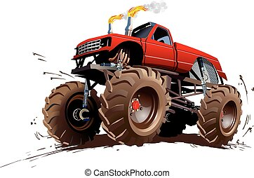 Cartoon Monster Truck. Available EPS-10 separated by groups...