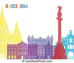 Barcelona skyline pop