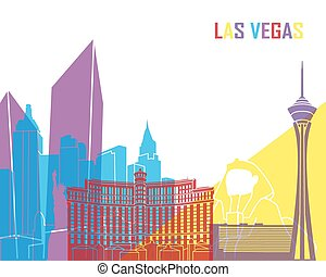Las Vegas skyline pop in editable vector file