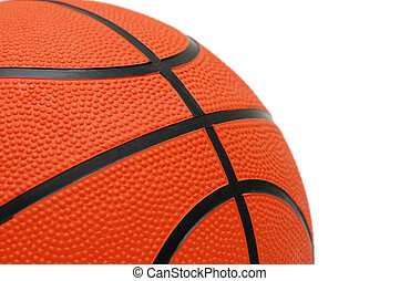 Orange basketball isolated on the white  background