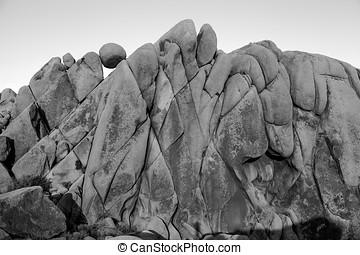 Last light on Jumbo Rocks at Joshua Tree National Park
