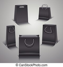 Set of the paper shopping bags.
