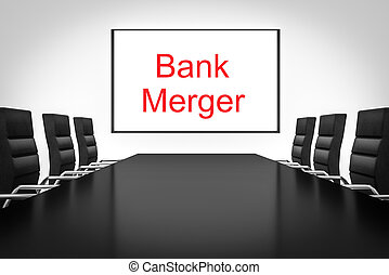 conference room whiteboard bank merger - conference meeting...