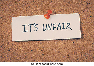 Its unfair
