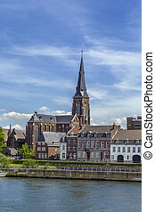 Embankment of Meuse river, Maastricht - view of Embankment...