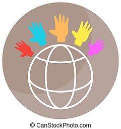 globale, diversità, icona