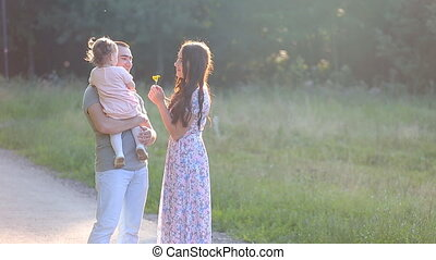 Beautiful Mother And Baby outdoors Nature Beauty Mum and her...