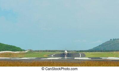 Airplane Take-off - Airplane take-off, International Phuket...