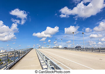 Bascule bridge over Stranahan River in Fort Lauderdale -...