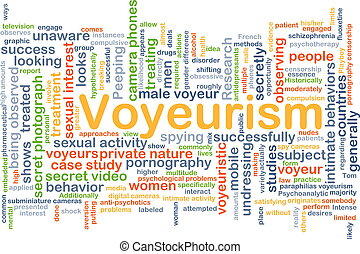 Voyeurism background concept - Background concept wordcloud...