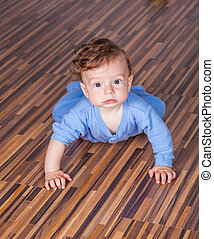 7 months baby boy - Portrait of a 7 months old baby boy at...