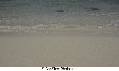 Waves Lapping on Sandy Beach - Small waves lapping on shore...
