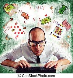 pôquer, Online,
