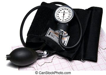 Sphygmonanometer - A Sphygmonanometer on top of a EKG...