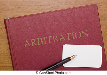 Code of Arbitration - the book and business card for a...