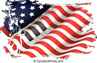 USA flag in the EEUU maps - Illustration of USA flag in the...